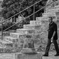The Bell, The Stairs And The Man Walking