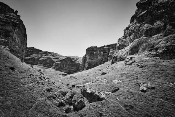Black & White Landscape In Hasankeyf