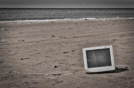 A Computer Left On The Beach