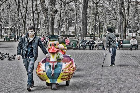 În parcul Ștefan Cel Mare