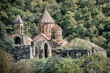 A picture of Dadivank, a monastery in Nagorno-Karabakh