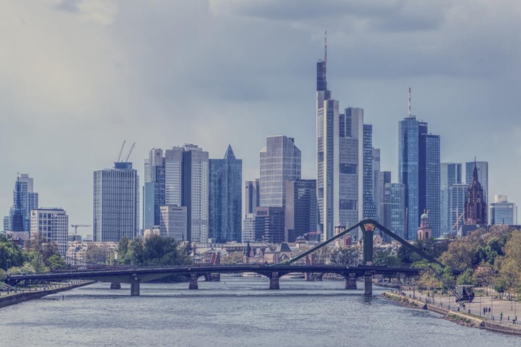 The Skyline of Frankfurt, Germany